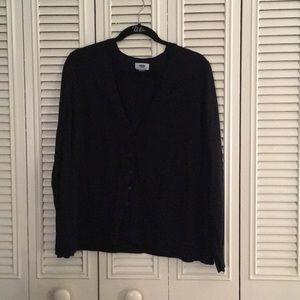 Black V-neck Button Down Cardigan